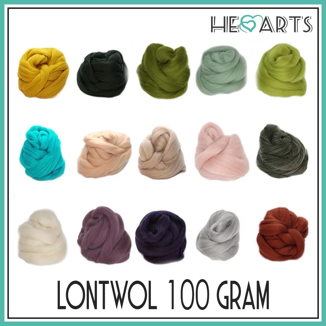 lontwol per 100 gram