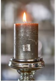Rustic Candle Antique Silver