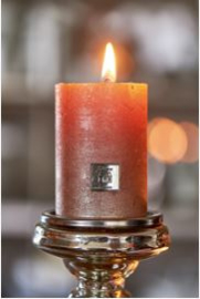 Rustic Candle Burned Rose