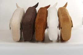 Voedingskussen ribvelvet  | hond Molly | beschikbaar in 5 kleuren