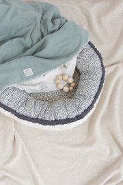 Baby Nestje organic print Grijs