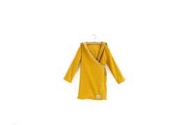Badjas | organic | beschikbaar in maat 104  | oker geel