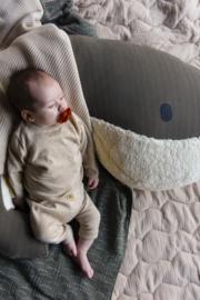Voedingskussen | walvis Momo | leger groen