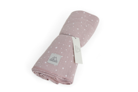 Swaddle 120 x 120cm Pink dot
