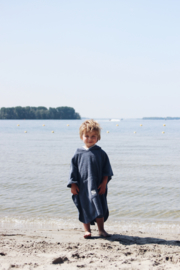 Poncho 2-5 jaar Denim Blue