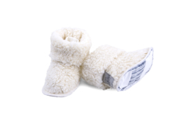 Todler slofjes teddy off-white  1-3 jaar