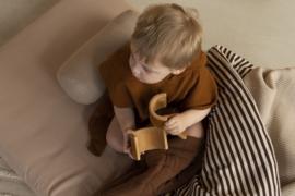 Junior duvet | streep bruin-naturel