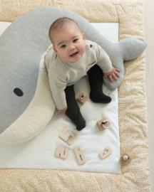 Voedingskussen | walvis Momo | licht grijs