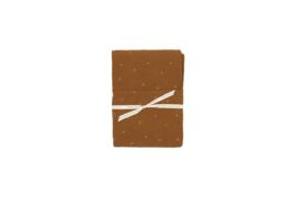 Ledikant hoeslaken | leafprint | beschikbaar in 4 kleuren
