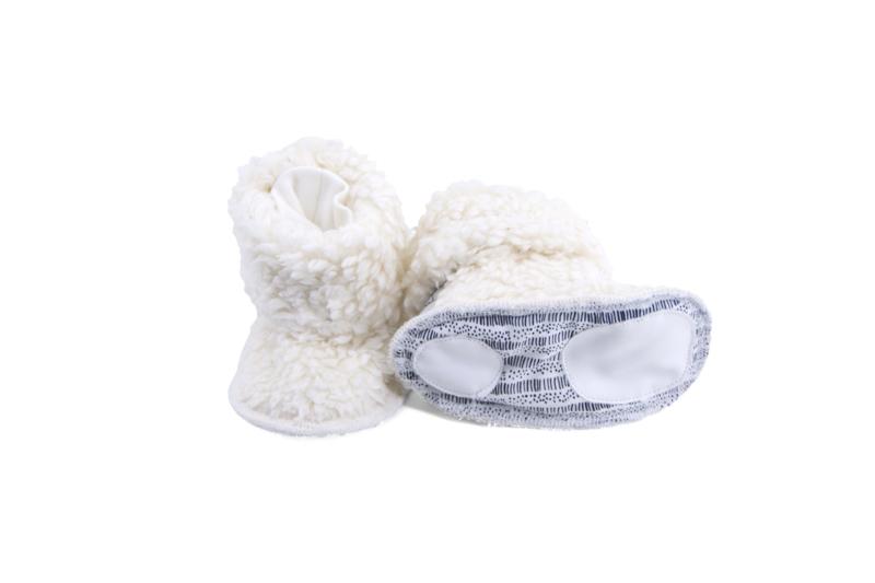 Mini slofjes Teddy off-white  6-12 maanden