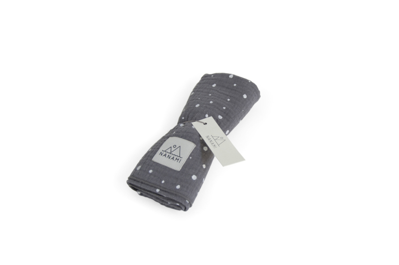 Luierdoek 60 x 60cm Grey dot