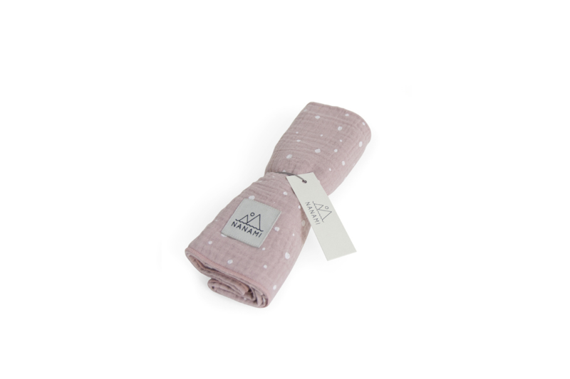Luierdoek 60 x 60cm Pink dot
