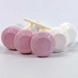 Dextro Lolly Roze/wit (500 gram)