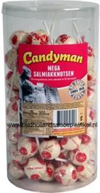 Candyman Mega Salmiak knotsen silo 75 stuks