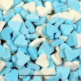 Vruchtenhartjes Mini Blauw/Wit (225 gram)