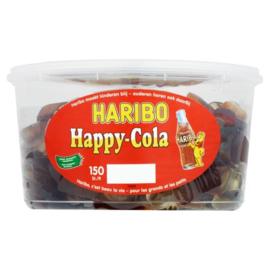 Haribo happy cola flesjes groot 150 stuks