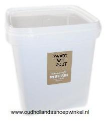 Meenk Zwart -wit zout plastic bak 2 kilo