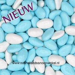 Amandelbonen Blauw/wit   100 gram