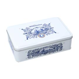 Giftbox wilhelmina pepermunt delfsblauw 500 gr. p/stuk