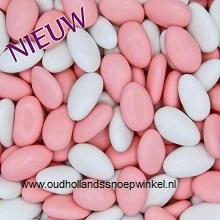 Amandelbonen Roze/wit   100 gram