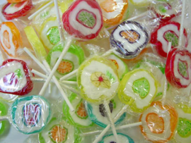 10x Rock lolly's fruit