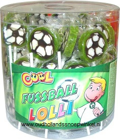 Cool voetbal lolly silo 100 stuks