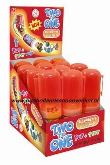 Two to one strawberry (aardbei)  per stuk