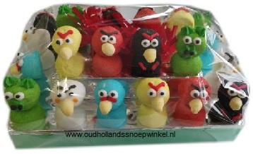 Spektaart angry birds  (uitdeeltaart 24 stuks)