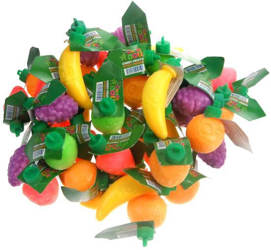 Plastic Fruit gevuld met zuurtje (4 stuks)
