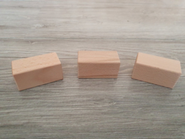 Houten blok 6 x 3 x 3 cm