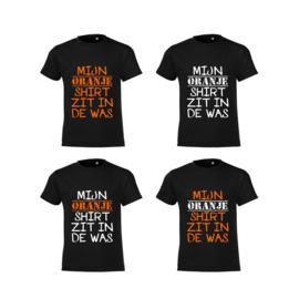 Mijn Oranje Shirt D Heren - Zwart