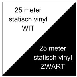 25 meter wit + 25 meter zwart
