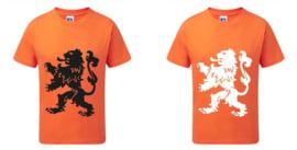 Koningsdag Leeuw T-Shirts Kinderen - Oranje