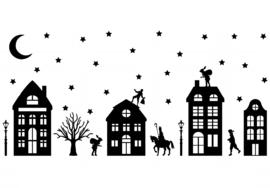 Raamstickers - Sinterklaas