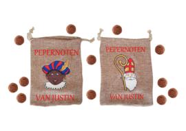 Pepernoten zakje Sint of Piet