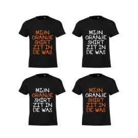 Mijn Oranje Shirt C Heren - Zwart