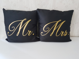 Kussenset Mr. & Mrs. zonder vulling