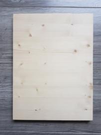 Houten bord +/- 30 x 40 cm