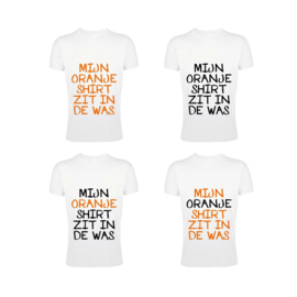 Mijn Oranje Shirt C Heren - Wit