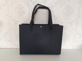 Vilten Tas Luxe - Zwart