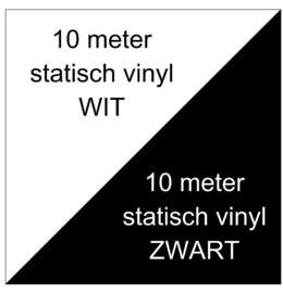 10 meter wit + 10 meter zwart