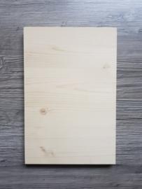 Houten bord +/- 20 x 30 cm