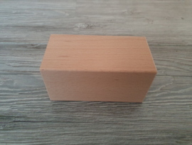 Houten blok 12 x 6 x 6 cm