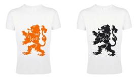 Koningsdag Leeuw T-Shirts Heren - Wit