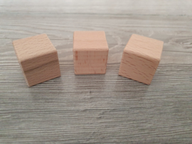 Houten blok 3 x 3 x 3 cm