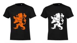 Koningsdag Leeuw T-Shirts Kinderen -Zwart