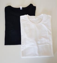 Heren T-shirt Zwart / Wit