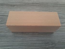 Houten blok 13,5 x 4,5 x 4,5 cm