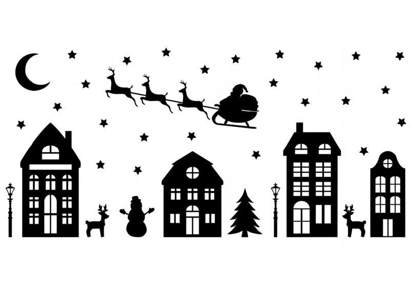 Afbeeldingsresultaat voor kerst silhouette