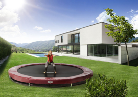 Trampoline Berg Elite+ InGround 430 Sport Rood